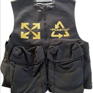 Off-White Black Multi-Logo Utility Vest